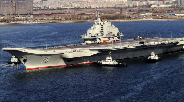 China aircraft carrier @ Wikipedia